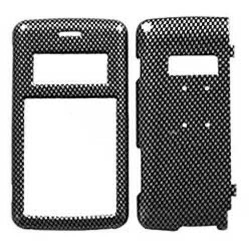 Hard Plastic Snap on Cover Fits LG VX9100 enV2 Carbon Fiber