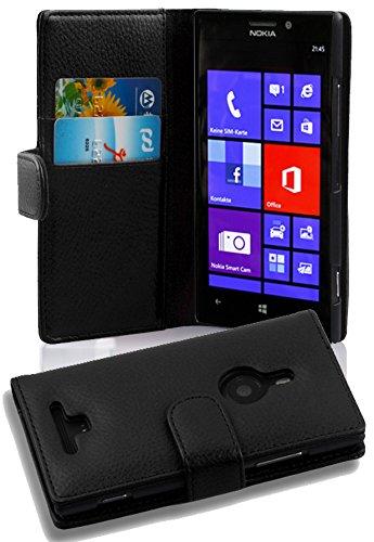 83 opinioni per Nokia Lumia 925 Custodia di Libro di Finta-Pelle in NERO PROFONDO di Cadorabo –