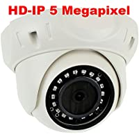 GW Security H.265 POE IP Security Camera–5mp HD IP 1920p Dome Camera - IP66 Weatherproof – 3.6mm Wide Angle lens
