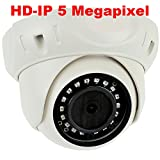 GW Security H.265 POE IP Security Camera–5mp HD IP 1920p Dome Camera – IP66 Weatherproof – 3.6mm Wide Angle lens Review