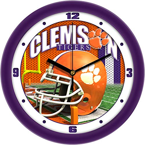 SunTime Clemson Tigers - Football Helmet Wall Clock ()