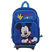 """New Disney Mickey Mouse School Set: Rolling Backpack 16""""- Lunch Bag W/bottle - Pencils-autograph Boo"""