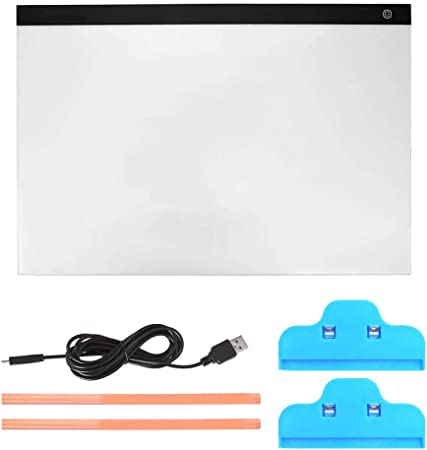 HEEPDD Caja de luz LED, Tablero de trazado de atenuación de Nivel A2 tamaño 3 con Cable de alimentación USB para niños Artistas Dibujo Bocetos Animación: Amazon.es: Hogar