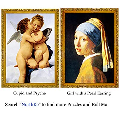 NorthKe 1000 pcs Jigsaw Puzzle, Large Puzzle Game for Teenagers and Adults, World Famous Painting Cupid and Psyche (19.7 x 27.5 Inch): Toys & Games