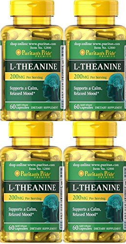 4 L-Theanina L-Teanina 200 mg 60 caps, ansiedad y menopausia: Amazon.es: Salud y cuidado personal