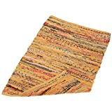 """DII Home Essentials Rag Rug for Kitchen, Bathroom, Entry Way, Laundry Room and Bedroom, 20 x 31.5"""" Mustard"""