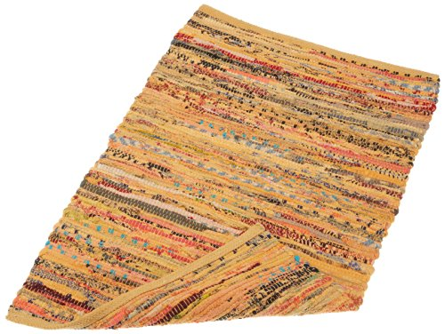 India Mustard - DII Contemporary Reversible Floor Rug Bathroom, Living Room, Kitchen, or Laundry Room (20x31.5) - Mustard