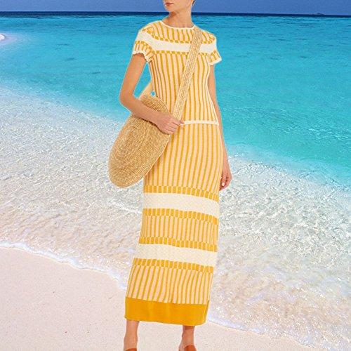 redondo con ideal de viajes para mujer playa retro ratán A para Type verano de pajita Bolso de xYvqgII