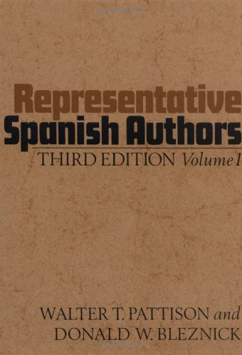 Representative Spanish Authors: Volume I