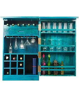 Ringabell Altavista Solid Wood Bar Cabinet (Turquoise)