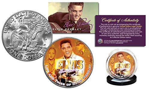 - ELVIS PRESLEY * Life & Times * Eisenhower IKE Dollar Officially Licensed Coin