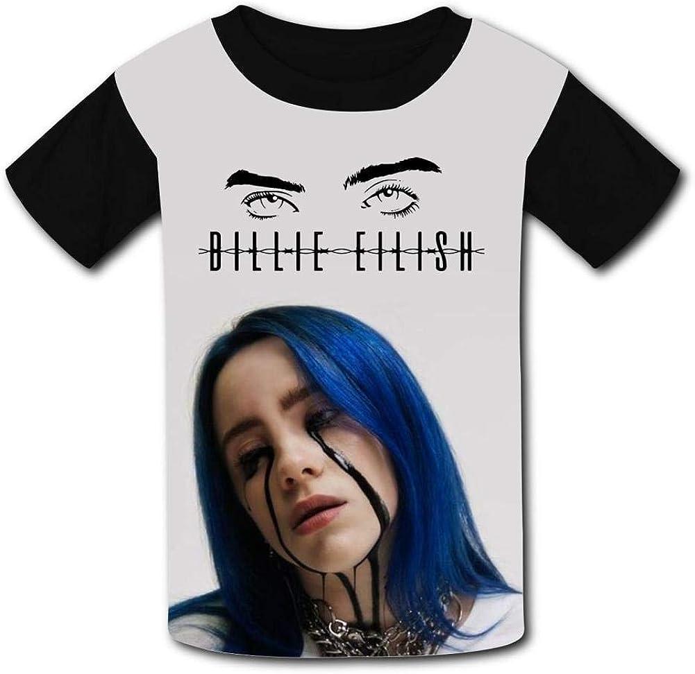 Boys Shirts Bil-Lie Ei-Lish Girls Tee Shirt Youth Short Sleeve Teenager Youth T-Shirts Top