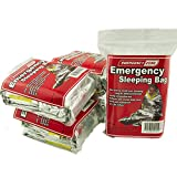 Emergency Sleeping Bag, Survival Bag, Emergency Zone Brand, Reflective Blanket, 1, 5 and 10 Packs Available (5 Pack)