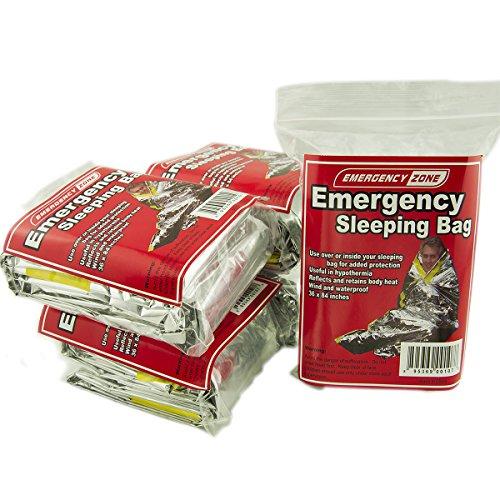 Emergency Sleeping Bag, Survival Bag, Emergency Zone Brand,