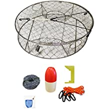 """KUFA Stainless Round Crab Trap Accessory Kit (100' Non-Lead Sinking Line, Clipper, Bait Bag 11"""" Float)"""