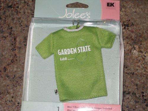 New Jersey Garden State Mini T-Shirt With Hanger Scrapbook Sticker (SPJMT017) (Glitter State Tee)