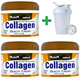 Mason Natural, Collagen Beauty Cream, Pear Scented, 4 oz (114 g) (3 PCS)+ Assorted Sundesa, BlenderBottle, Classic With Loop, 20 oz