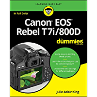 Canon EOS Rebel T7i/800D For Dummies (For Dummies (Computer/Tech)) book cover