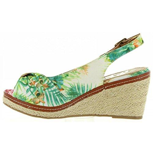 Textil Blanco Femme Pour Chaussures 63397 Refresh Compensées XxwSzqHT