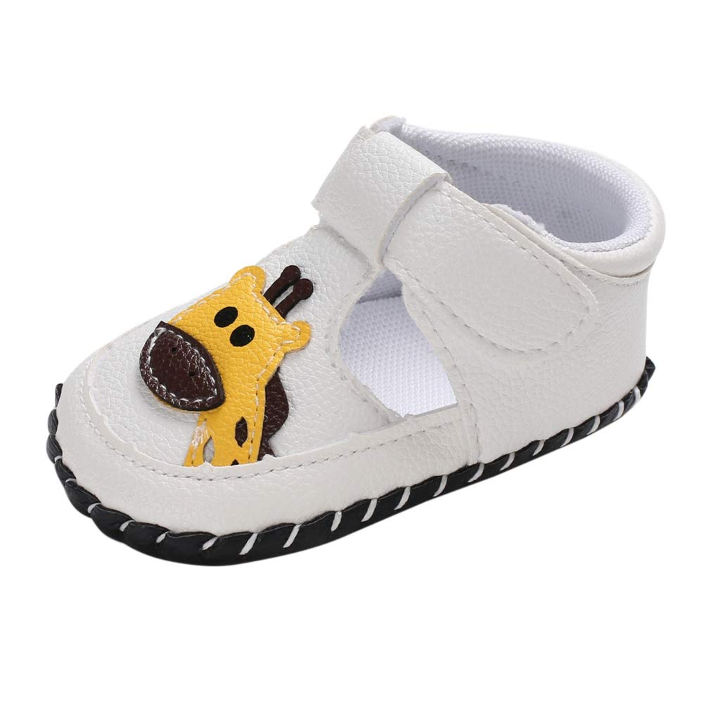 Happiekids Summer Baby Boy Girl Cute PU Sandals Soft Sole Anti-Slip Cartoon Animal Crib Shoes First Walkers Walking Shoes