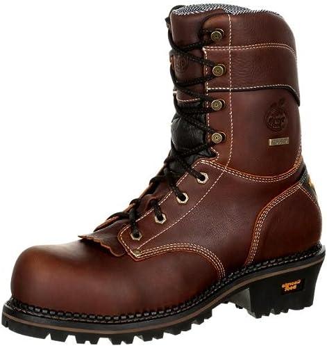 Georgia Mens Boot Amp Lt 9 Waterproof Logger Round Toe Gb00235