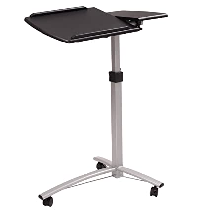 Amazon tiltable overbed table laptop rolling computer cart tiltable overbed table laptop rolling computer cart adjustable medical bedside table hospital tray watchthetrailerfo