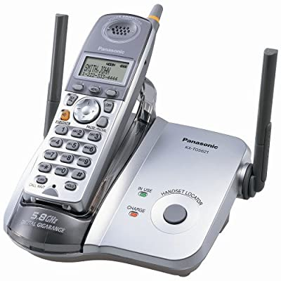 Panasonic KX-TG5621S 5.8 GHz FHSS GigaRange Digital Cordless Telephone