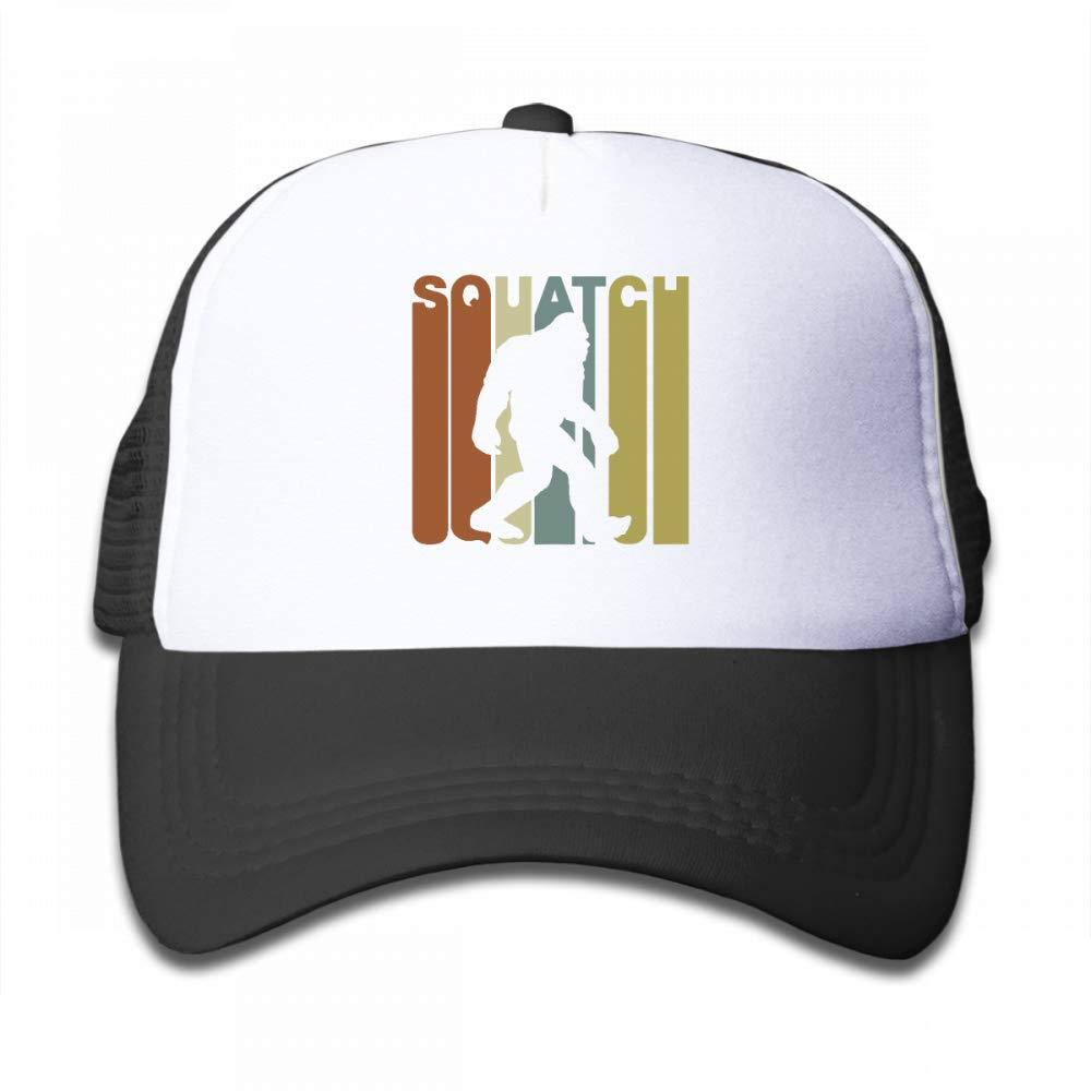 NO4LRM Kid's Boys Girls Retro Style Bigfoot Youth Mesh Baseball Cap Summer Adjustable Trucker Hat by NO4LRM (Image #1)