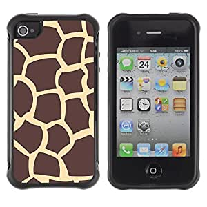 WAWU Rugged Armor Slim Protection Case Cover Shell -- Africa animal brown yellow nature giraffe -- Apple Iphone 5C