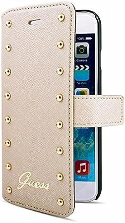 Book Case Guess Studded Für Apple Iphone 6 Plus Cream Elektronik