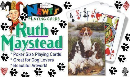 Best Friends Playing Cards, by Ruth Maystead - Springer Spaniels (English and Welsh)