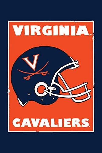 Magnolia Lane Collegiate Garden Flag (Virginia Helmet)