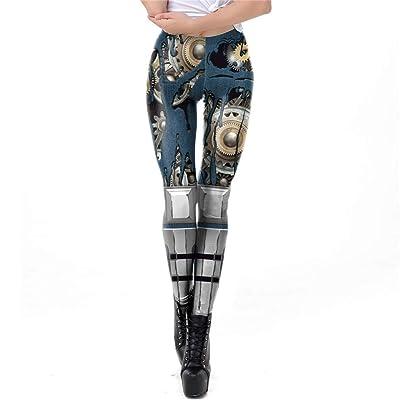 LHY RIDING Leggings con Estampado de Halloween Medias de Moto para Mujer Leggings Deportivos Impresos en 3D,L: Deportes y aire libre