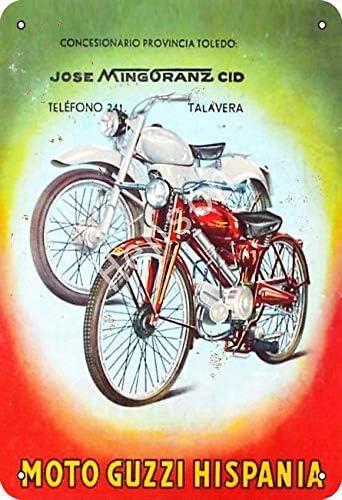 Moto Guzzi Hispania Motorcycle Cartel de chapa retro Pintura de hierro vintage Placa de aluminio no oxidado Cartel Arte de metal para caf/é