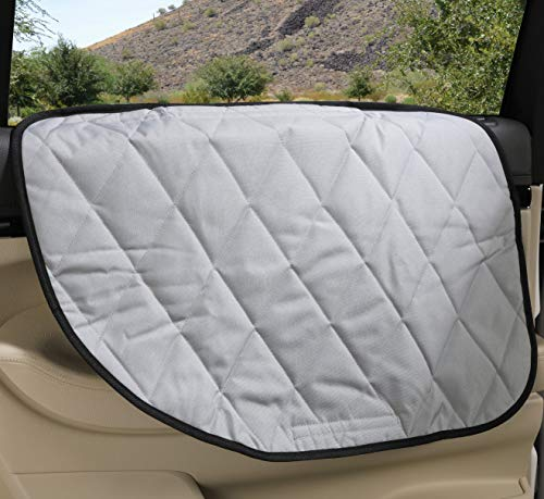 4Knines Dog Car Door Cover for Cars, Trucks and SUVs - USA Based Company - Two Door Guards (One for Each Side) (Grey) (Fell Off The Back Of A Truck)