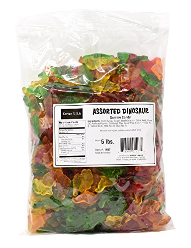 Assorted Dinosaur Gummy Candy, 5 Lbs