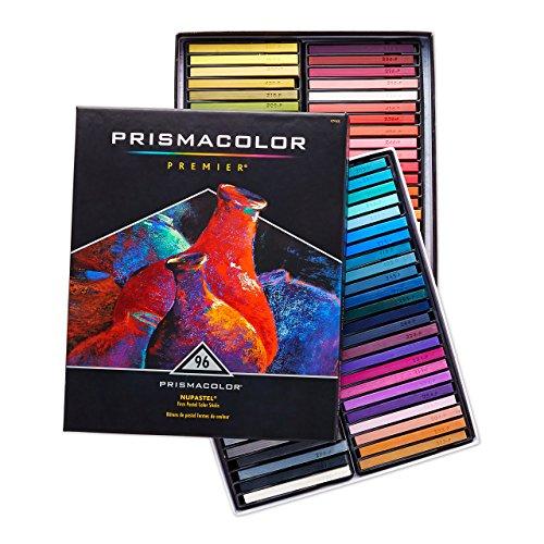 Prismacolor 27055  Premier NuPastel Firm Pastel Color Sticks, 96-Count Compressed Chalk