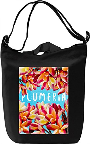 Plumeria Borsa Giornaliera Canvas Canvas Day Bag| 100% Premium Cotton Canvas| DTG Printing|