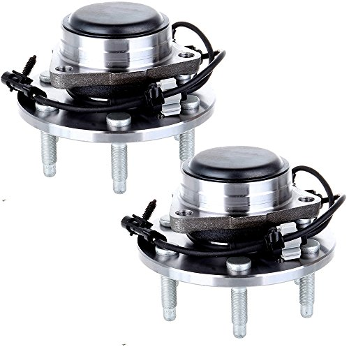 ECCPP Wheel Hub and Bearing Assembly Front 515054 fit 1999-2012 Chevy Sierra GMC Silverado Cadillac Replacement for 6 lugs wheel hub with ABS 2 pcs