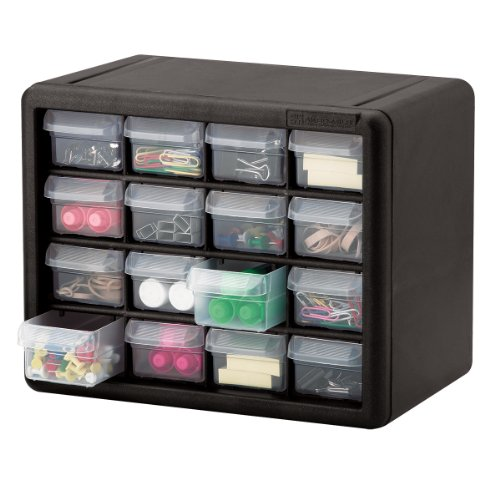Akro mils 10116 16 drawer plastic parts storage hardware for Plastic craft storage drawers
