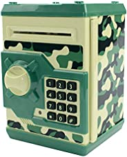 HUSAN Great Gift Toy for Kids Code Electronic Piggy Banks Mini ATM Electronic Coin Bank Box for Children Passw