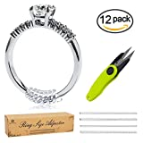Silicone Ring Size Adjuster 12pcs in 4 Size - BONUS Scissors - Ring Guard for Loose Rings - with Instructions