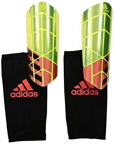 adidas Performance X Pro Shin Guards, Solar Yellow/Solar Red/Black, X-Small (Adidas Compression Backpack)