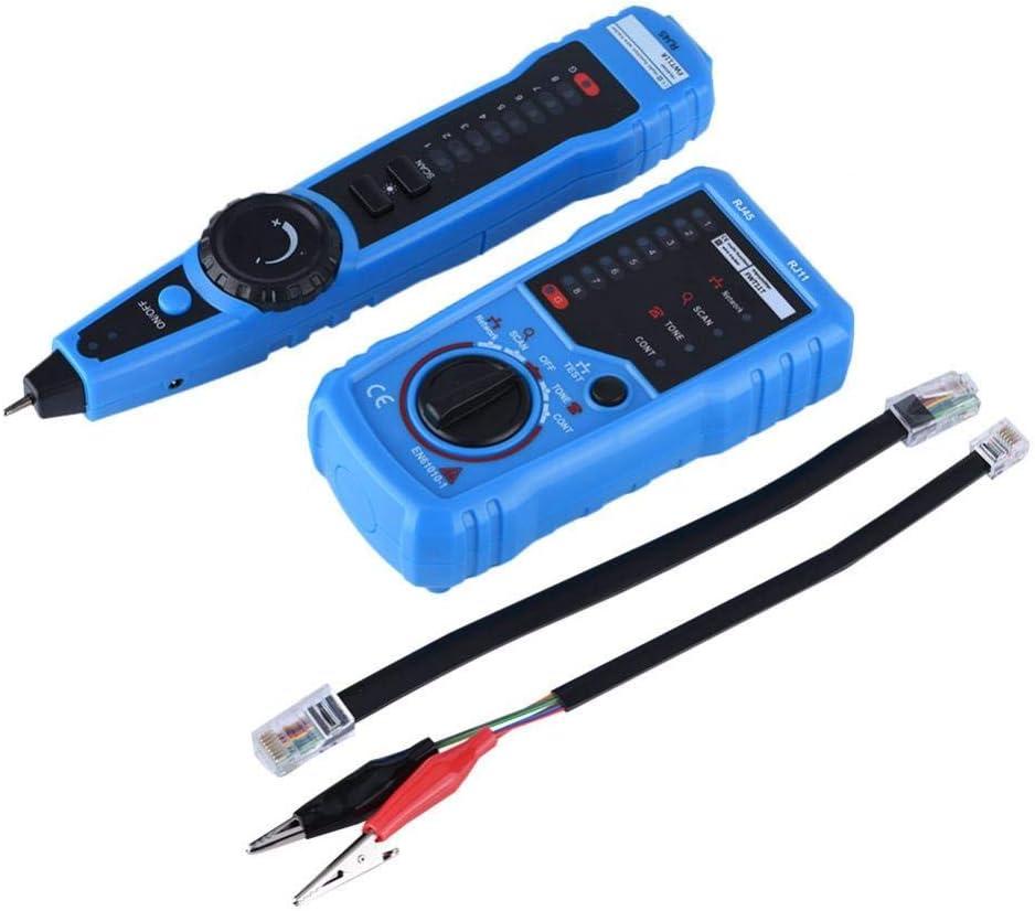 Wire Tracker Tracer d/étecteur de ligne Testeur r/éseau t/él/éphonique du c/âble LAN Ethernet RJ45 RJ11 Line Finder Network Cable Testeur Locator Wire Portable Testeur de c/âble Finder Haute Sensibilit/é