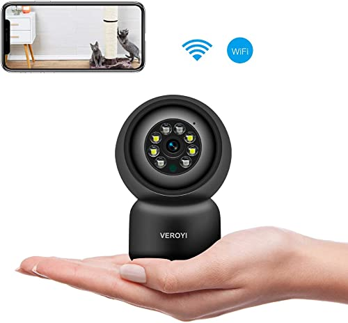 Veroyi Home Security Camera, 1080P WiFi Surveillance IP Camera with 2 Way Audio, Motion Detection, Full Color Night Vision Compatible with iOS Android Phones