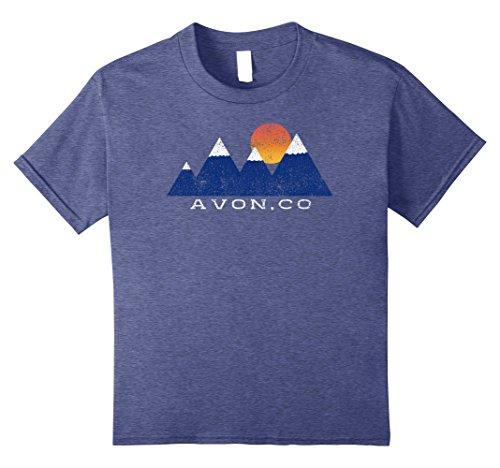 lorado snowcapped Mountain Sunset T-Shirt 12 Heather Blue (Avon T-shirt T-shirts)