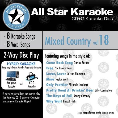 ASK-828 Karaoke: Mixed Country 18 Darius Rucker, Taylor Swift, Kenney Chesney, Miranda Lambert