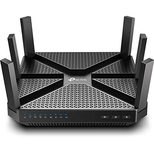 TP-Link AC4000 Smart WiFi Router - Tri Band Router , MU-MIMO, VPN Server, Antivirus/Parental Control, 1.8GHz CPU, Gigabit, Beamforming, Link Aggregation, Rangeboost, Works with Alexa(Archer A20),Black