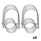 SkyFish Wire Handles for Mason, Ball, Canning Jars (8 Pack, Regular Mouth)