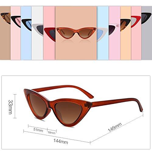 Mujer De SOJOS Moda Cat Gafas Eye Sol Lente Ojo SJ2044 Chic De C18 Gato Café Super Marco Café HCBtRBxwq